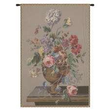 Floral Vase Still Life European Tapestry