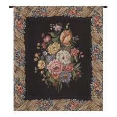 Bunch of Flowers Black European Tapestry