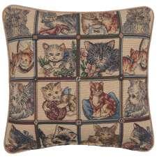 The Many Cats Italian Tapestry Cushion