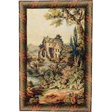 Old Mill Vertical Italian Tapestry