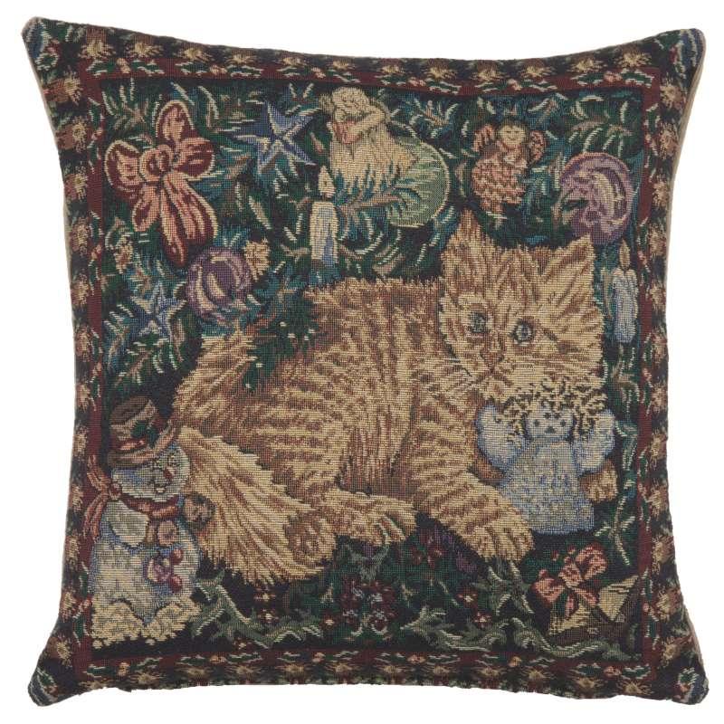 Cats Holiday Italian Tapestry Cushion
