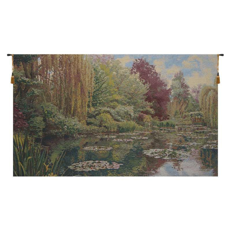 Monet Left Panel No Border Belgian Tapestry Wall Hanging