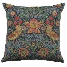 Strawberry Thief A Blue by William Morris European Cushion Cover