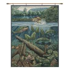 Fishin' Hole with Looped Brown Rod Fine Art Tapestry