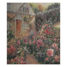 Enchanting English Garden Stretched Wall Tapestry