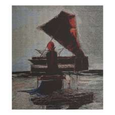 The Pianist Stretched Wall Tapestry