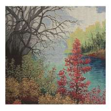 The Autumn River Stretched Wall Tapestry