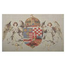 Hungary Coat of Arms Stretched Wall Tapestry