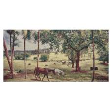 Peaceful Pasture Stretched Wall Tapestry