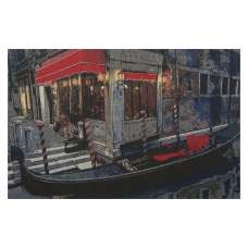 Moonlight Gondola Stretched Wall Tapestry