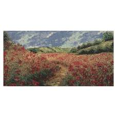 Poppy Fields III Stretched Wall Tapestry