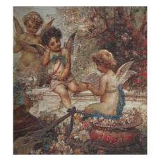 Cherubs In The Garden Stretched Wall Tapestry