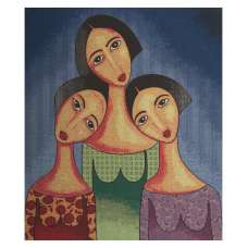 Three Sister Stretched Wall Tapestry