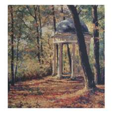 Gazebo in The Park Stretched Wall Tapestry