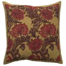 Chrysanthemum Bordo European Cushion Covers