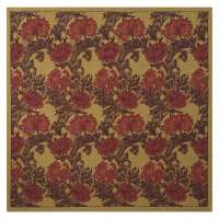 Chrysanthemum Bordo II Tapestry Throw