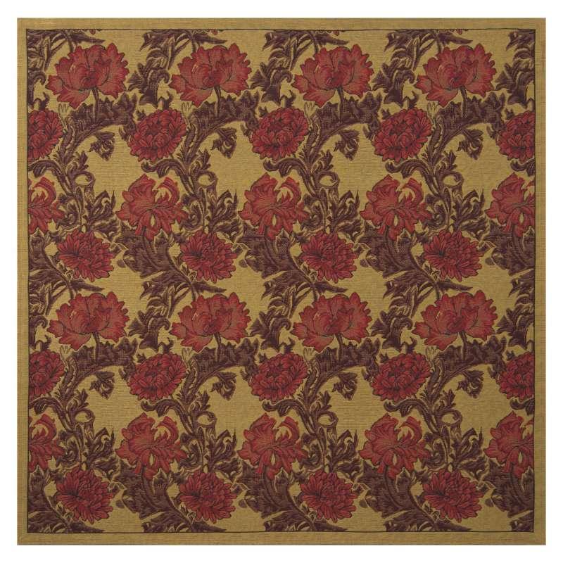 Chrysanthemum Bordo II Tapestry Throw