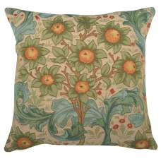 Orange Tree w/Arabesques Light Decorative Tapestry Pillow