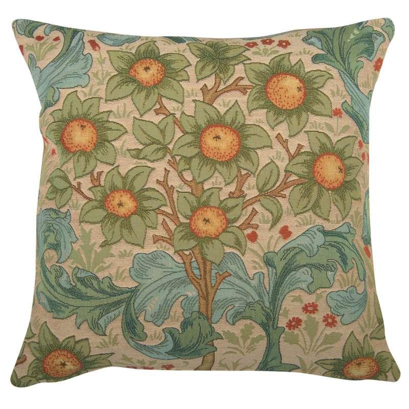 Orange Tree w/Arabesques Light Decorative Tapestry Pillow