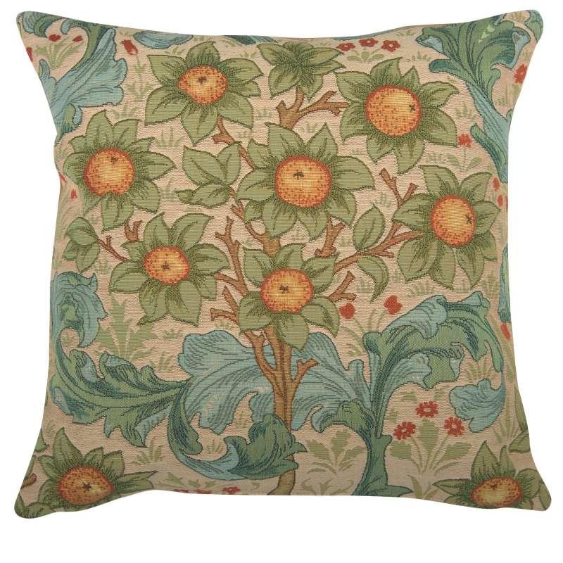 Orange Tree w/Arabesques Light French Tapestry Cushion