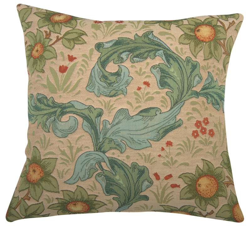 Arabesques w/Orange Tree Light Decorative Tapestry Pillow