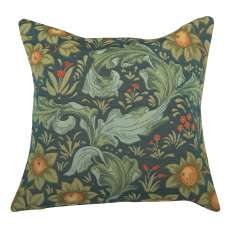 Arabesques w/Orange Tree Blue Decorative Tapestry Pillow