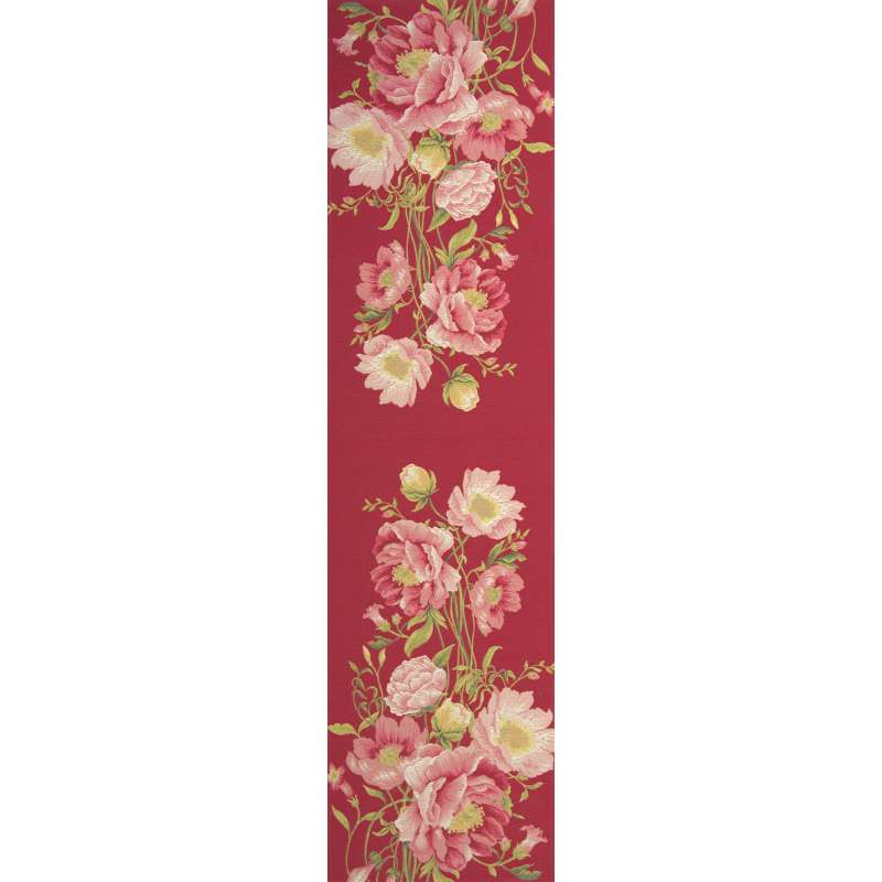 Peonies Pink French Tapestry Table Runner