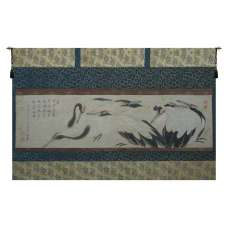 Crane Birds Belgian Tapestry Wall Hanging