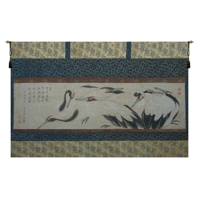 Crane Birds Flanders Tapestry Wall Hanging