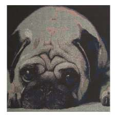 An Ecstatic Pug Stretched Wall Tapestry