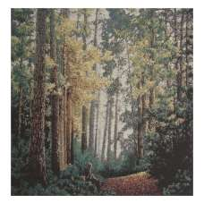 Forest Path Stretched Wall Tapestry