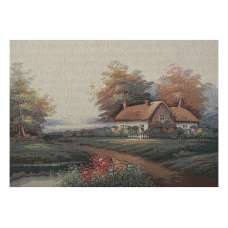 Our Cottage by the Lake Stretched Wall Tapestry