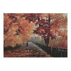 Blues of Falling Stretched Wall Tapestry