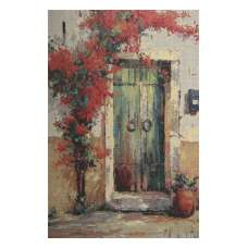 Villa Flora Over Door Stretched Wall Tapestry