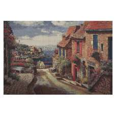 Mediterranean Village at Amalfi Stretched Wall Tapestry