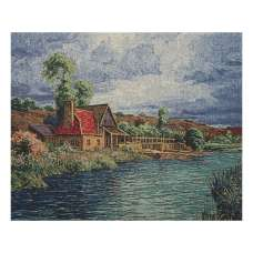 Mill House Stretched Wall Tapestry
