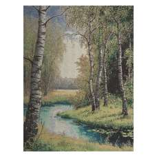 Brook between the Trees Stretched Wall Tapestry