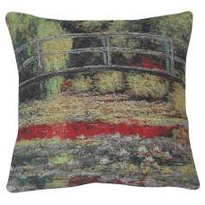 Giverny Bridge II Decorative Pillow Cushion Cover