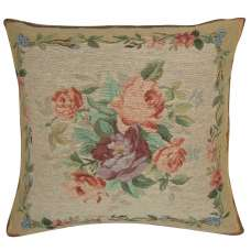 Amboise Floral Medallion Decorative Tapestry Pillow
