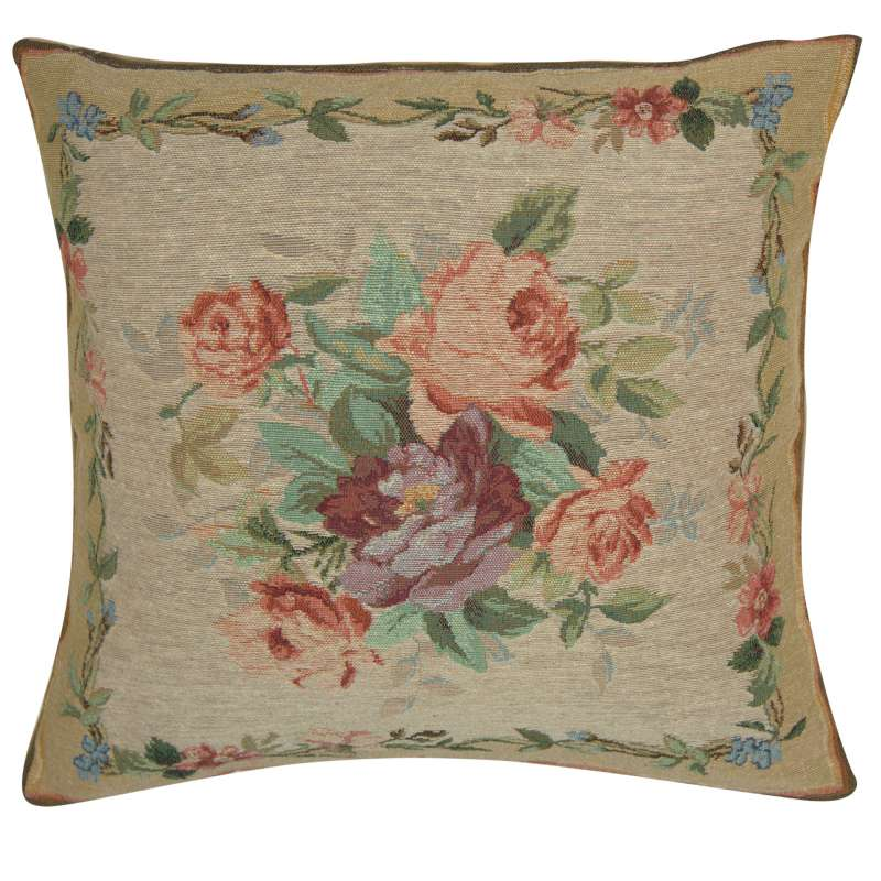 Amboise Floral Medallion French Tapestry Cushion