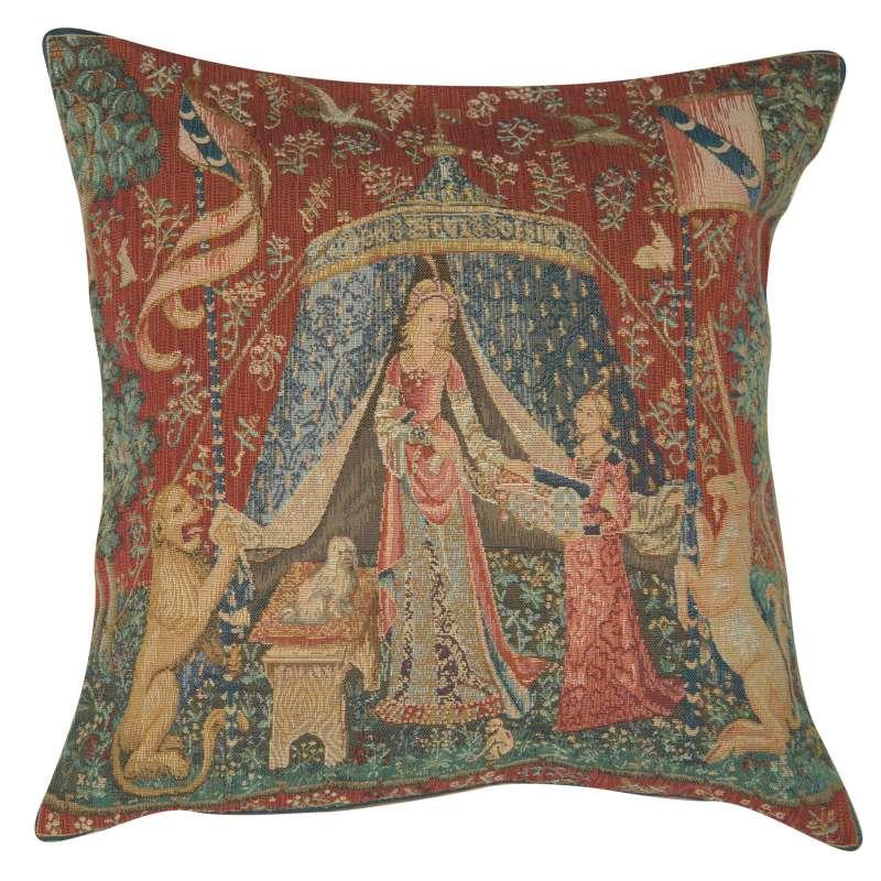 A Mon Seul Desir III Large Decorative Tapestry Pillow
