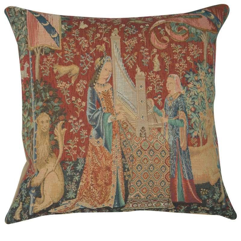 The Hearing 1 Large Decorative Tapestry Pillow