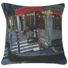 Moonlight Gondola I Decorative Pillow Cushion Cover