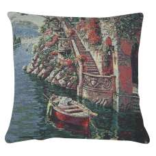 Lake Como Villa II Decorative Pillow Cushion Cover