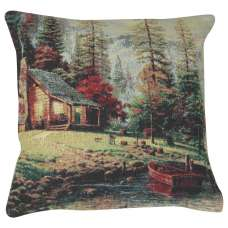 Lakeside Cabin Retreat Decorative Pillow Cushion Cover