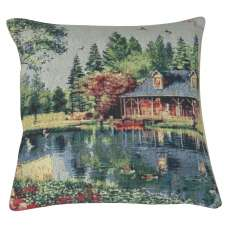 Placid Cabin Decorative Pillow Cushion Cover