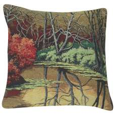 Autumn Pond Reflections Decorative Pillow Cushion Cover