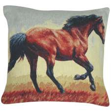 Running Thoroughbred Decorative Pillow Cushion Cover
