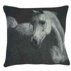 Horse in Charcoal Decorative Pillow Cushion Cover