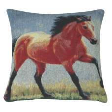 Running Thoroughbred II Decorative Pillow Cushion Cover